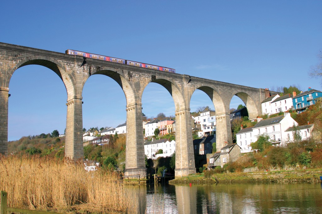 Calstock Viaduct above the River Tamar