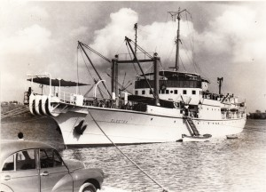 CS Electra at St. Lucia 1956