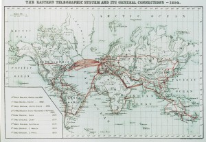 ETC Cable Map 1894 the great war