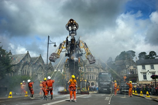 The Man Engine Cometh – Awakening of the Mechanical Miner and his journey across Cornwall.